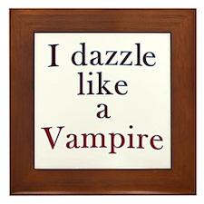 I kiss like a Vampire Framed Tile