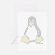 Ascii Tux Greeting Cards (Pk of 10)