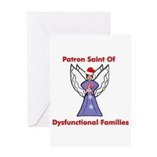 Patron Saint Dysfunctional Families Greeting Card