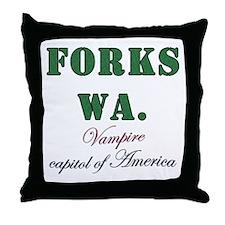 Twilight Forks Joke Throw Pillow