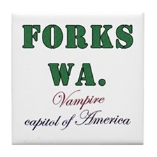 Twilight Forks Joke Tile Coaster