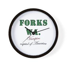 Twilight Forks Joke Wall Clock