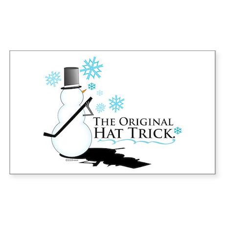 original hat trick Rectangle Sticker 50 pk)