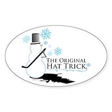 original hat trick Oval Decal