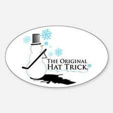 original hat trick Oval Decal