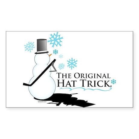 original hat trick Rectangle Sticker