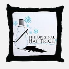 original hat trick Throw Pillow