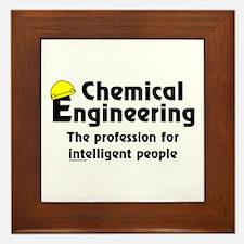 Smart Chemical Engineer Framed Tile