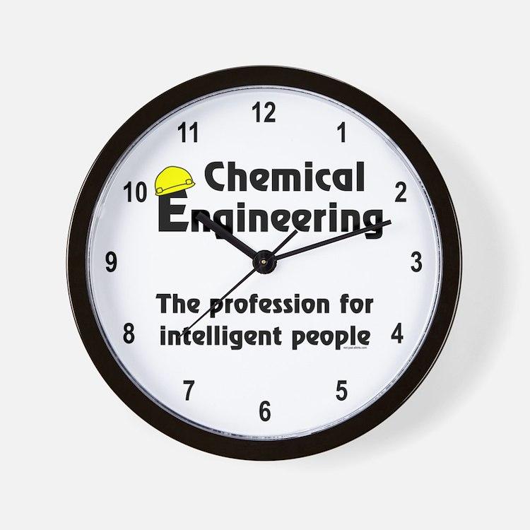 Smart Chemical Engineer Wall Clock