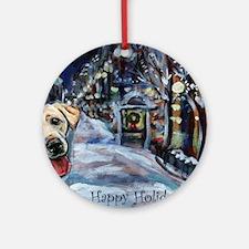 Yellow Labrador Holiday Ornament (Round)