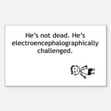 Electroencephalographically c Rectangle Decal