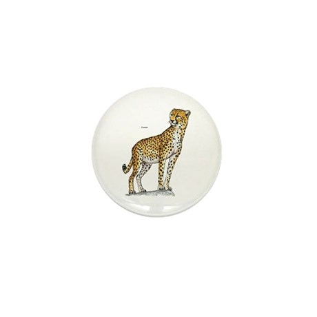 Cheetah Wild Cat Mini Button