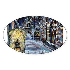 Soft Coated Wheaten Terrier h Oval Sticker (10 pk)
