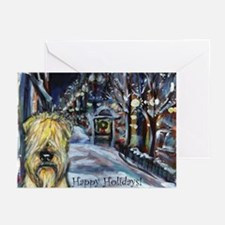 Soft Coated Wheaten Terrier h Greeting Cards (Pk o