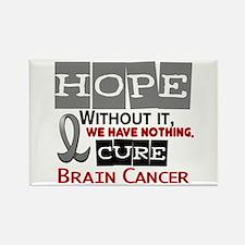 HOPE Brain Cancer 2 Rectangle Magnet