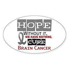 HOPE Brain Cancer 2 Oval Decal