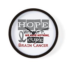 HOPE Brain Cancer 2 Wall Clock