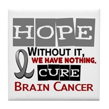 HOPE Brain Cancer 2 Tile Coaster