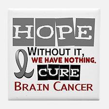 HOPE Brain Cancer 2 Tile Coaster