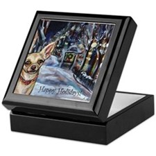 Chihuahua xmas holiday Keepsake Box