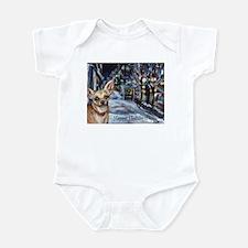 Chihuahua xmas holiday Infant Bodysuit