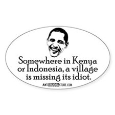 Village Idiot Oval Decal