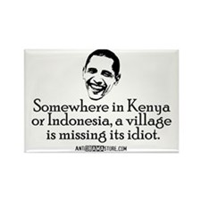 Village Idiot Rectangle Magnet (100 pack)