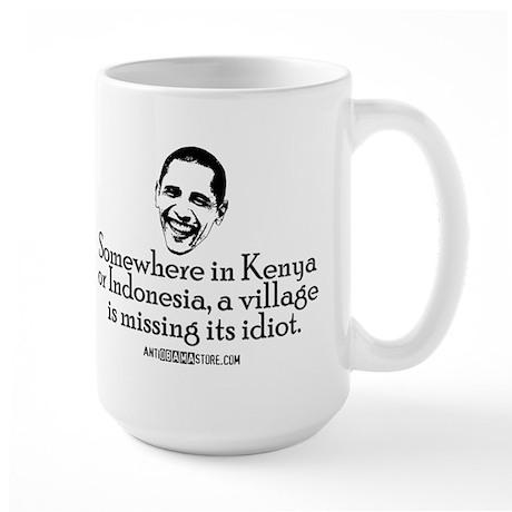 Village Idiot Large Mug