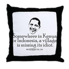 Village Idiot Throw Pillow
