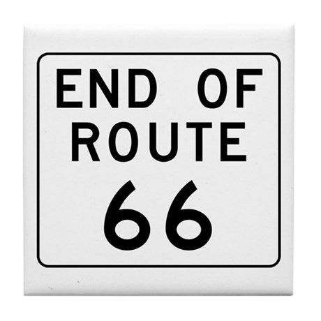 End of Route 66, Illinois Tile Coaster