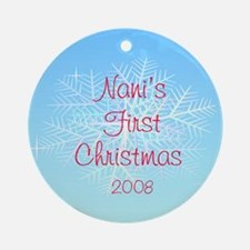 Nani's First Christmas Ornament Snowflake