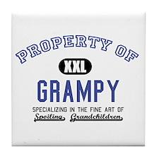Property of Grampy Tile Coaster