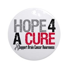 Brain Cancer Hope Cure Ornament (Round)