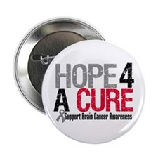 """Brain Cancer Hope Cure 2.25"""" Button (10 pack)"""