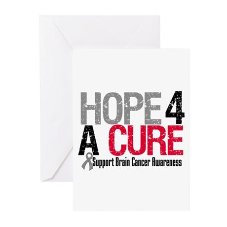 Brain Cancer Hope Cure Greeting Cards (Pk of 10)