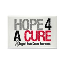 Brain Cancer Hope Cure Rectangle Magnet