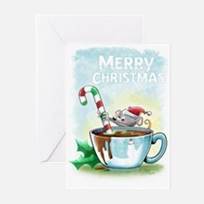 Hot Chocolate Mouse Greeting Cards (Pk of 20)