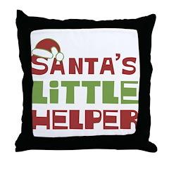 Santa's Little Helper Throw Pillow