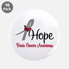 """HopeButterfly Brain Cancer 3.5"""" Button (10 pack)"""