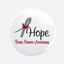 """HopeButterfly Brain Cancer 3.5"""" Button"""