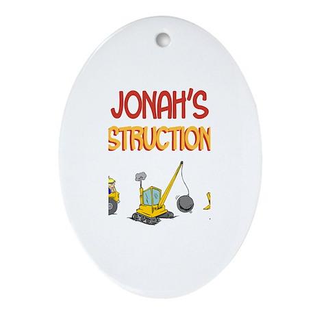 Jonah's Construction Tractors Oval Ornament