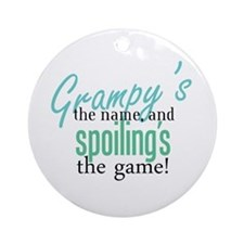 Grampy's the Name! Ornament (Round)