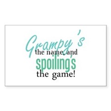 Grampy's the Name! Rectangle Decal