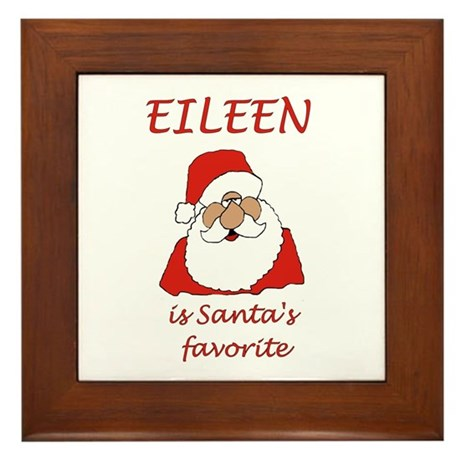Eileen Christmas Framed Tile