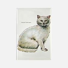 Turkish Angora Cat Rectangle Magnet