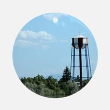 Water Tower - Blue Ornament (Round)