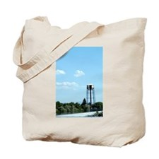 Water Tower - Blue Tote Bag