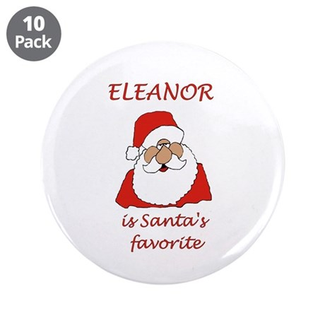 "Eleanor christmas 3.5"" Button (10 pack)"