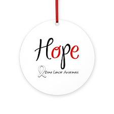 Bone Cancer HOPE Ornament (Round)