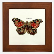 Brown Painted Butterfly Framed Tile